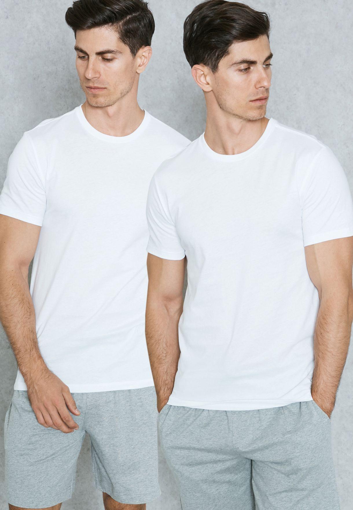 Shop Polo Ralph Lauren white 2 Pack Basic T-Shirt 252U2CRW CRCCT for ... b4fc3a7656a