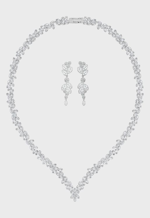 Diapason Necklace + Earrings Set