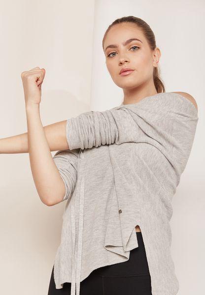 Shavasana Lace Up Shoulder Sweatshirt