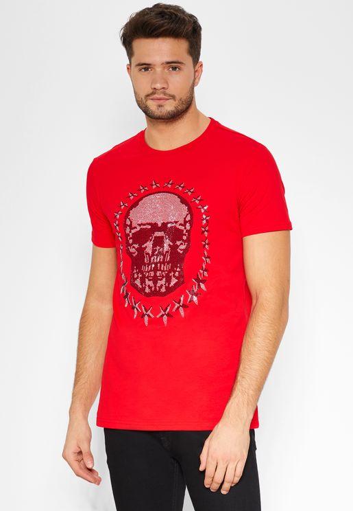 Star Skull Crew Neck T-Shirt