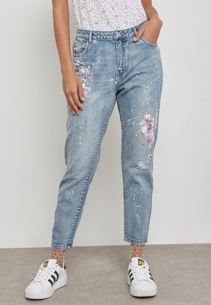 Embroidered Detail Skinny Jeans