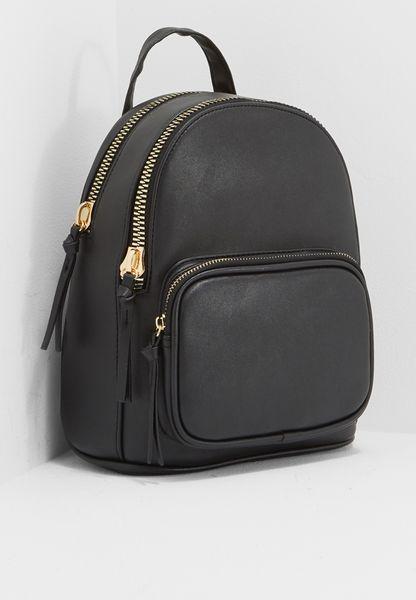 Mini Curve Chunky Zip Backpack