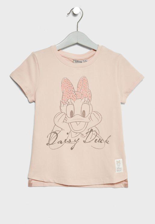 Little Daisy Duck Rhinestones T-Shirt