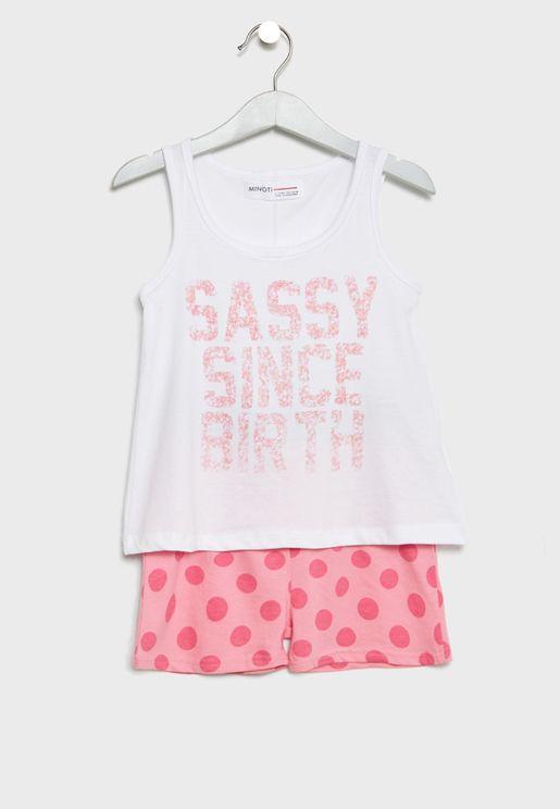 Little Top + Shorts Set