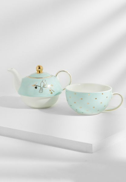 Miss Darcy Tea For One Set Mint