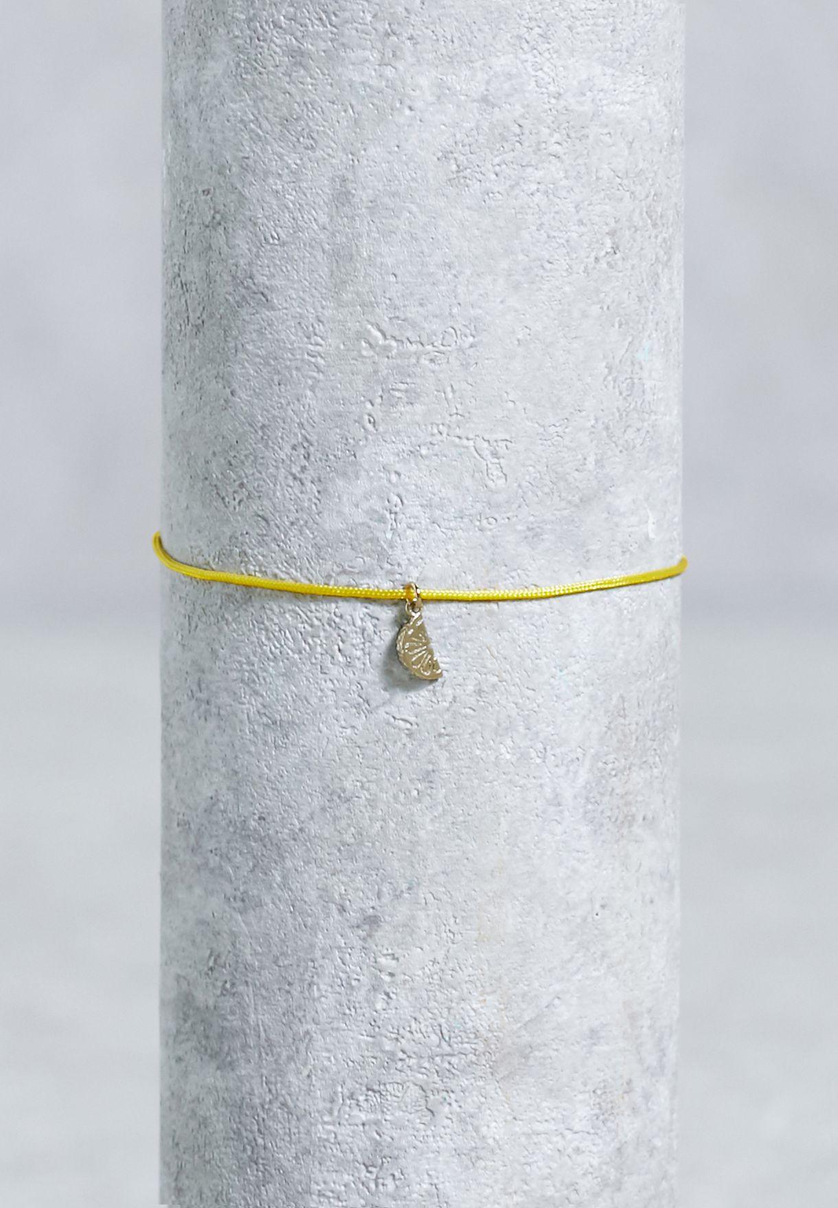 Lemon Charm  Bracelet