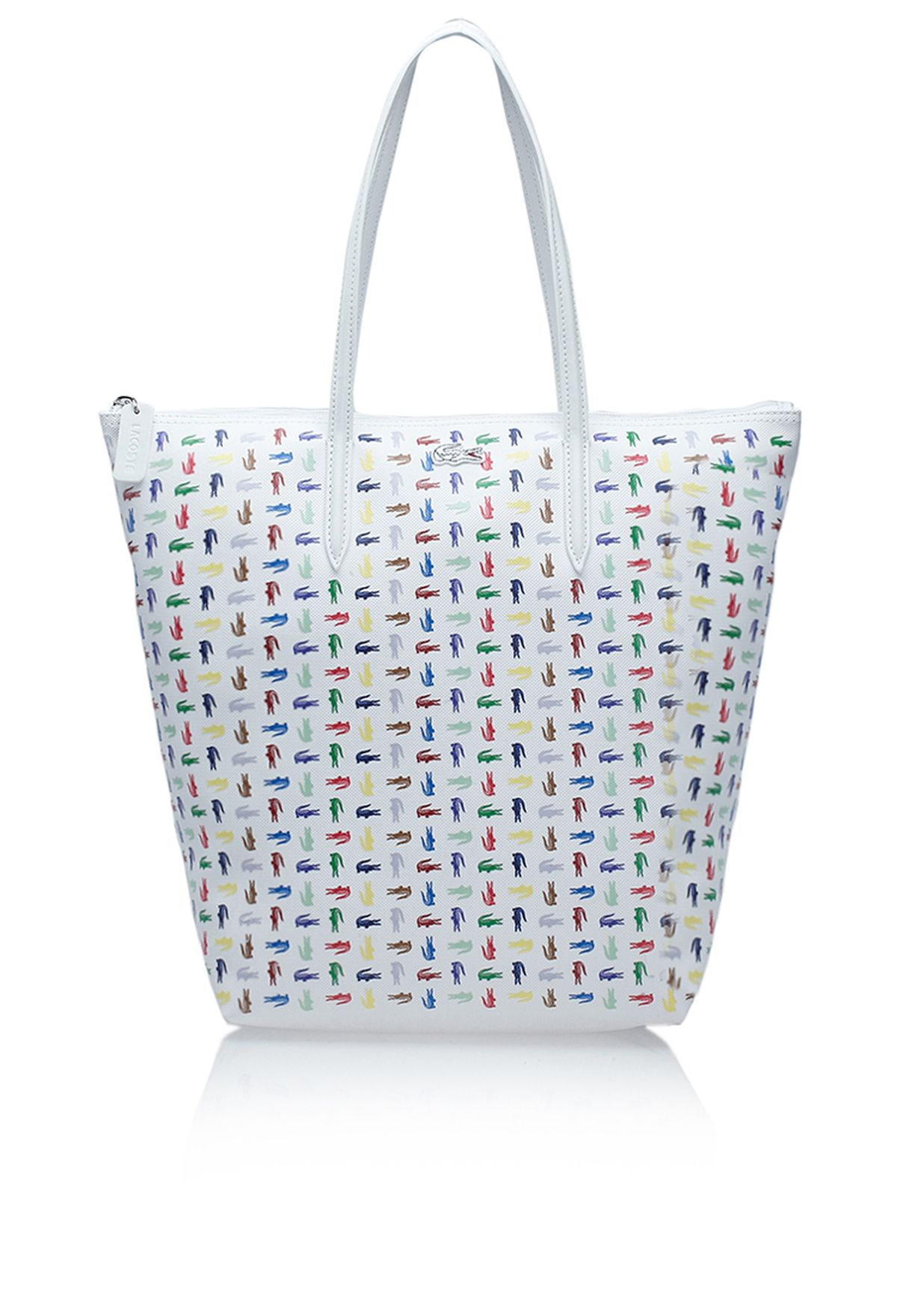 37da288469 Shop Lacoste white Vertical Tote Bag NF1025CX-552 for Women in Saudi -  LA014AC15RKE