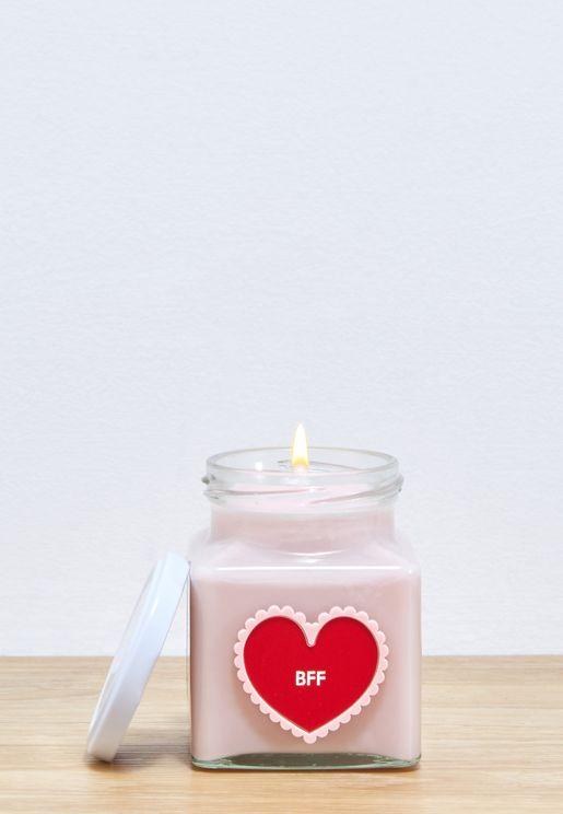 Love Bug BFF Heart Candle