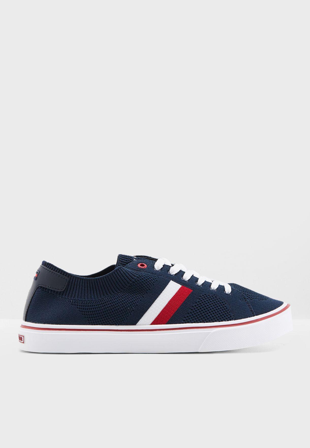 851b3166f Shop Tommy Hilfiger white Lightweight Corporate Sneaker FM0FM01619 ...