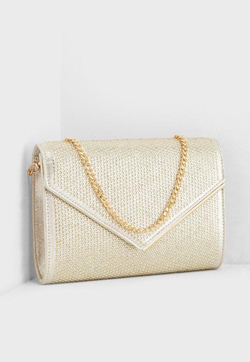 4a21fb956b33 Evaleen Diamante Envelope Clutch