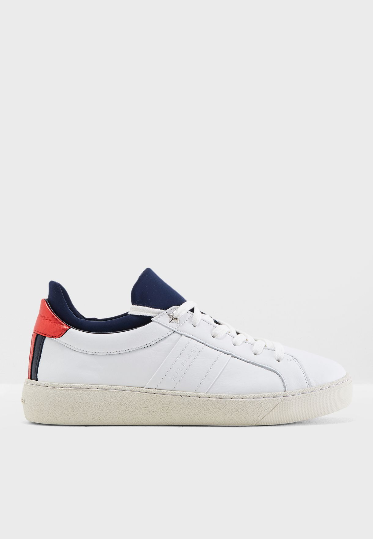 498d9f39c Shop Tommy Hilfiger white Hybrid Iconic Sneaker FW0FW03269020 for ...