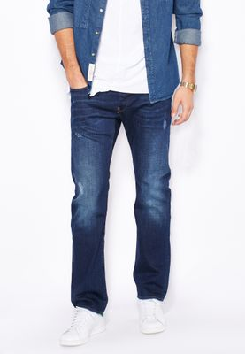 G-Star Raw Devon Stretch Straight Fit Dark Wash Jeans