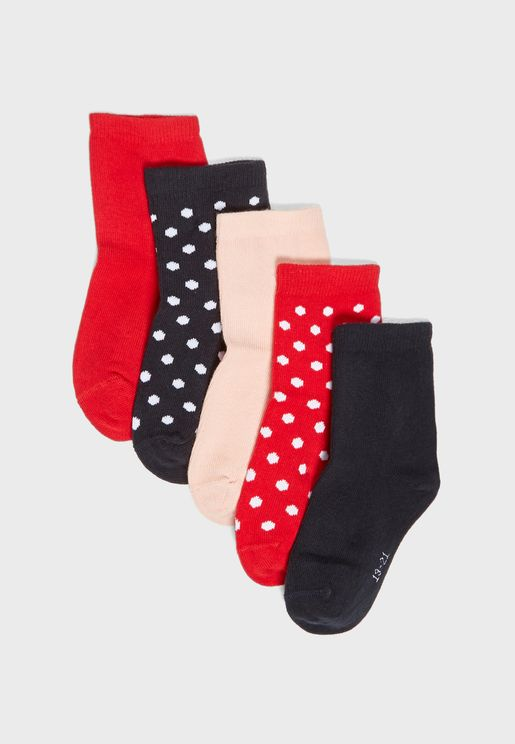 Kids 5 Pack Socks