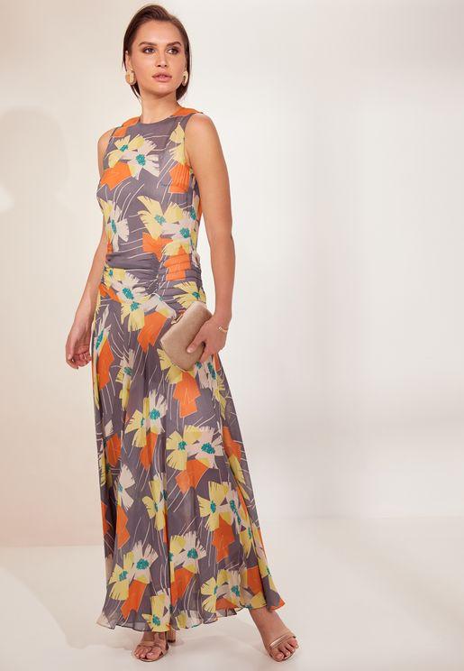 Remi Floral Print Maxi Dress