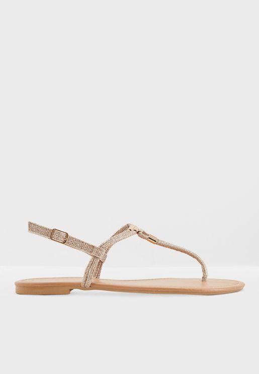 Glitter Mesh Meta Sandal
