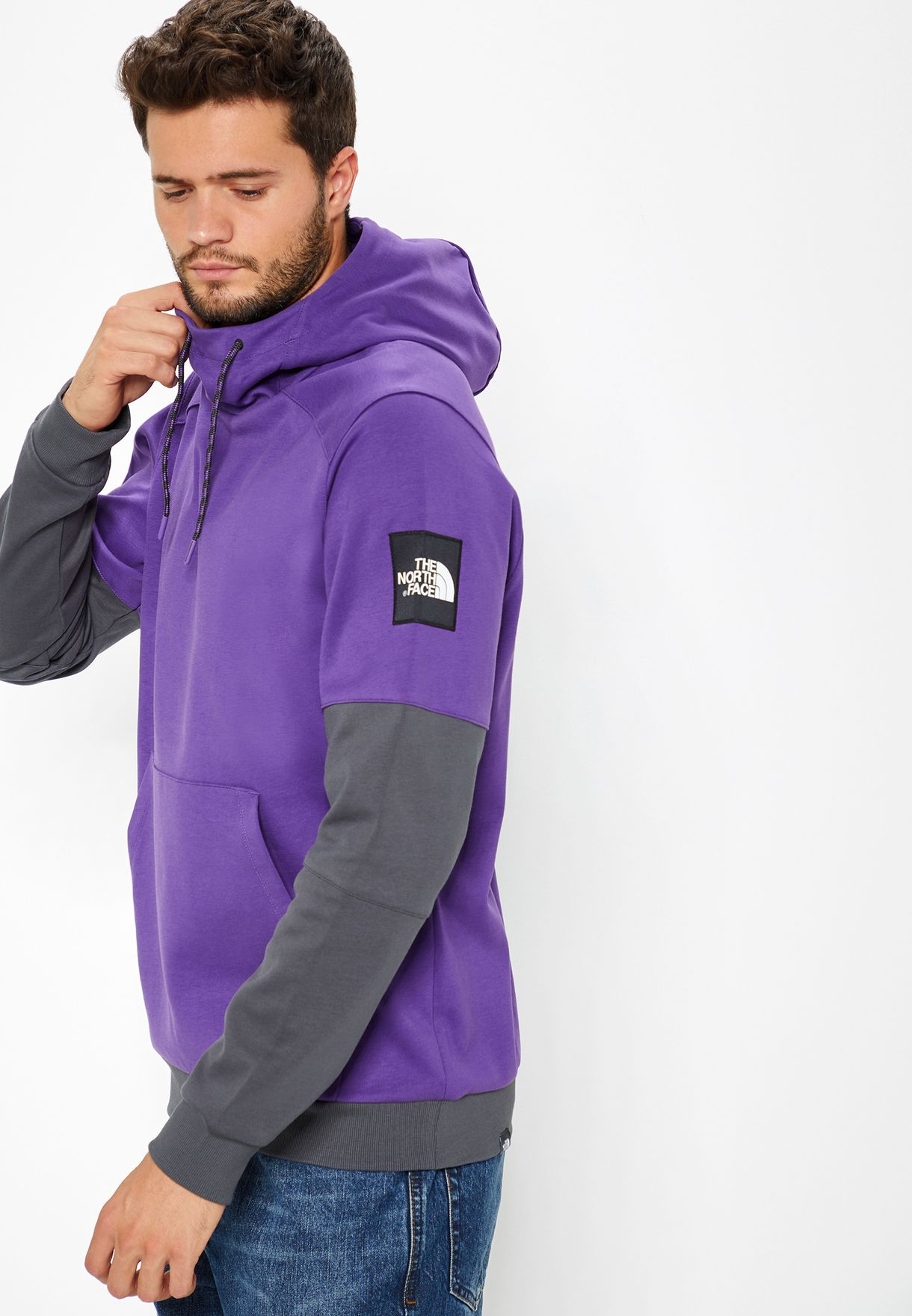 d324fc6a813 Shop The North Face purple Fine 2 Box Hoodie T93BNX-3YR for Men in ...