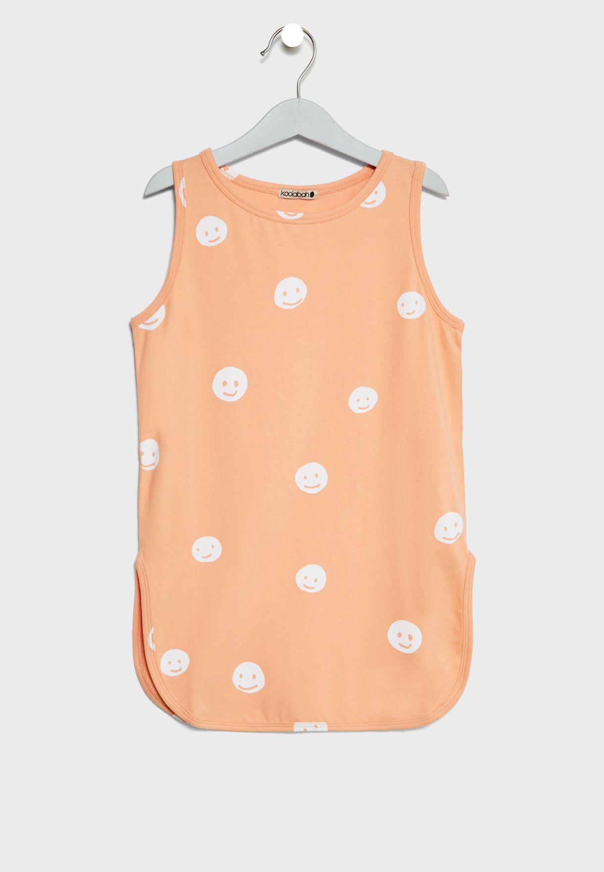 Little Smiley Print Dress
