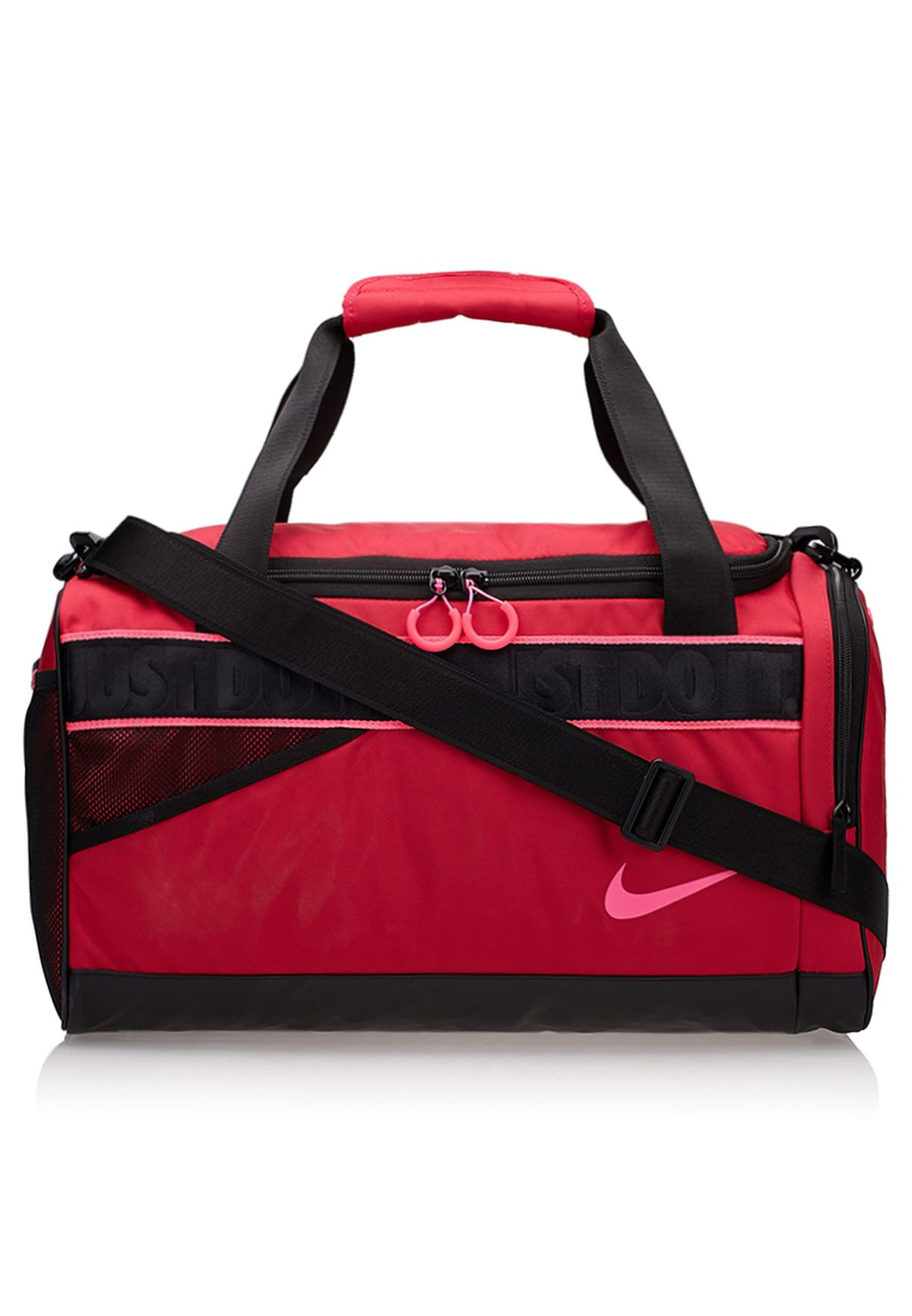 b6678f8cf8fd Shop Nike red Varsity Duffel Bag BA4732-640 for Women in Oman - NI727AC15QVS