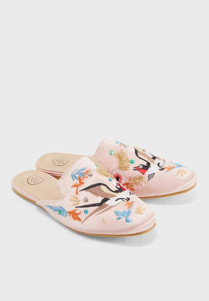 Amica Embroidery and Embellished Slip On