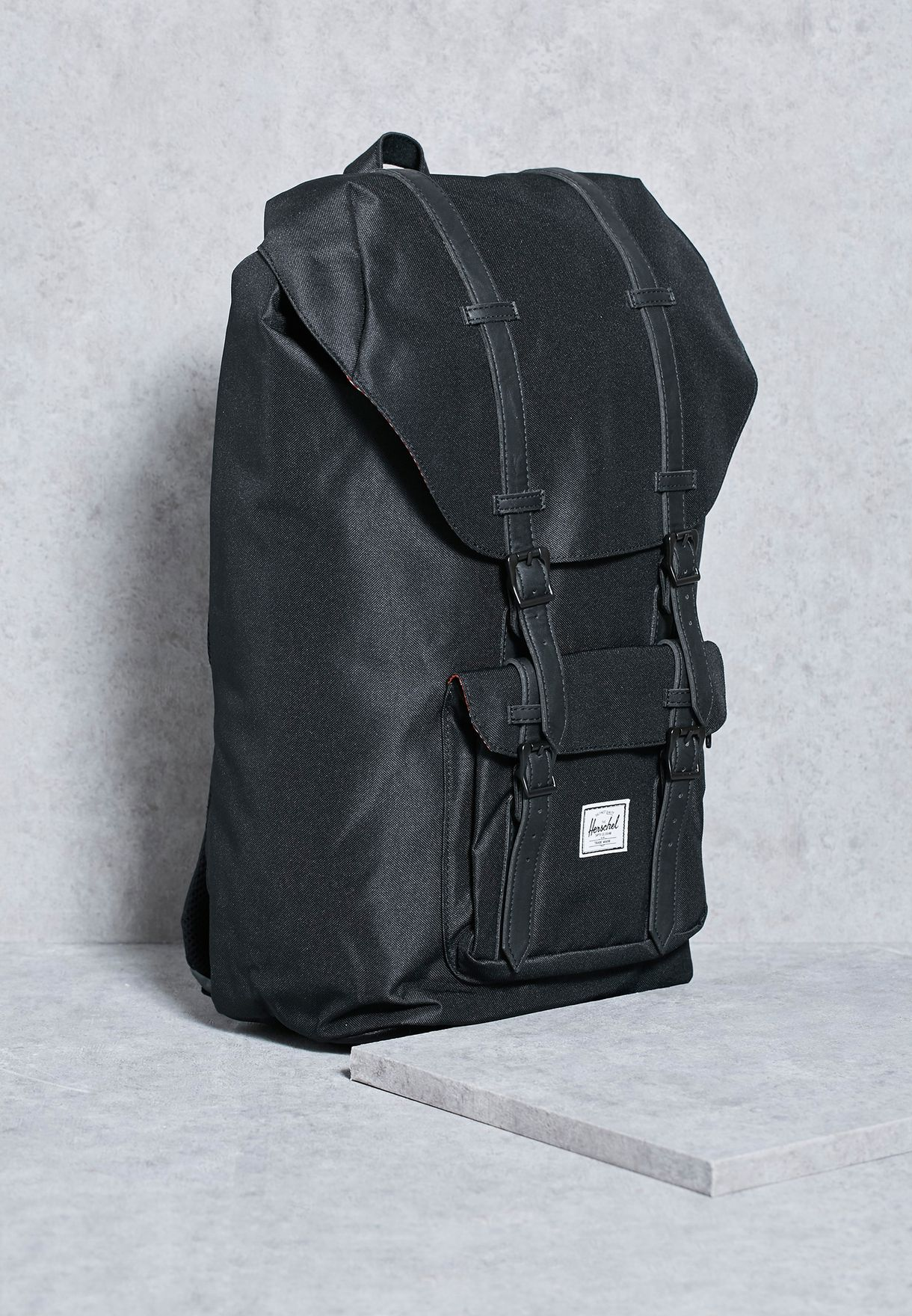 d0f3da201c1 Shop Herschel black Little America Backpack 25L for Men in UAE ...