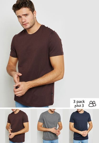 3 Pack Crew Neck T-Shirts