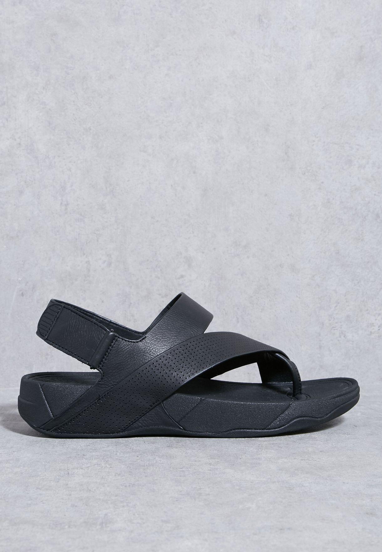 fbfcf95a06ff Shop Fitflop black Sling Perf Sandals H05-090 for Men in UAE ...