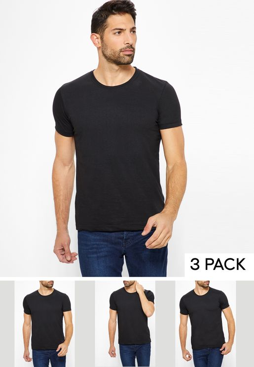 3 Pack Basic Crew Neck T-Shirts