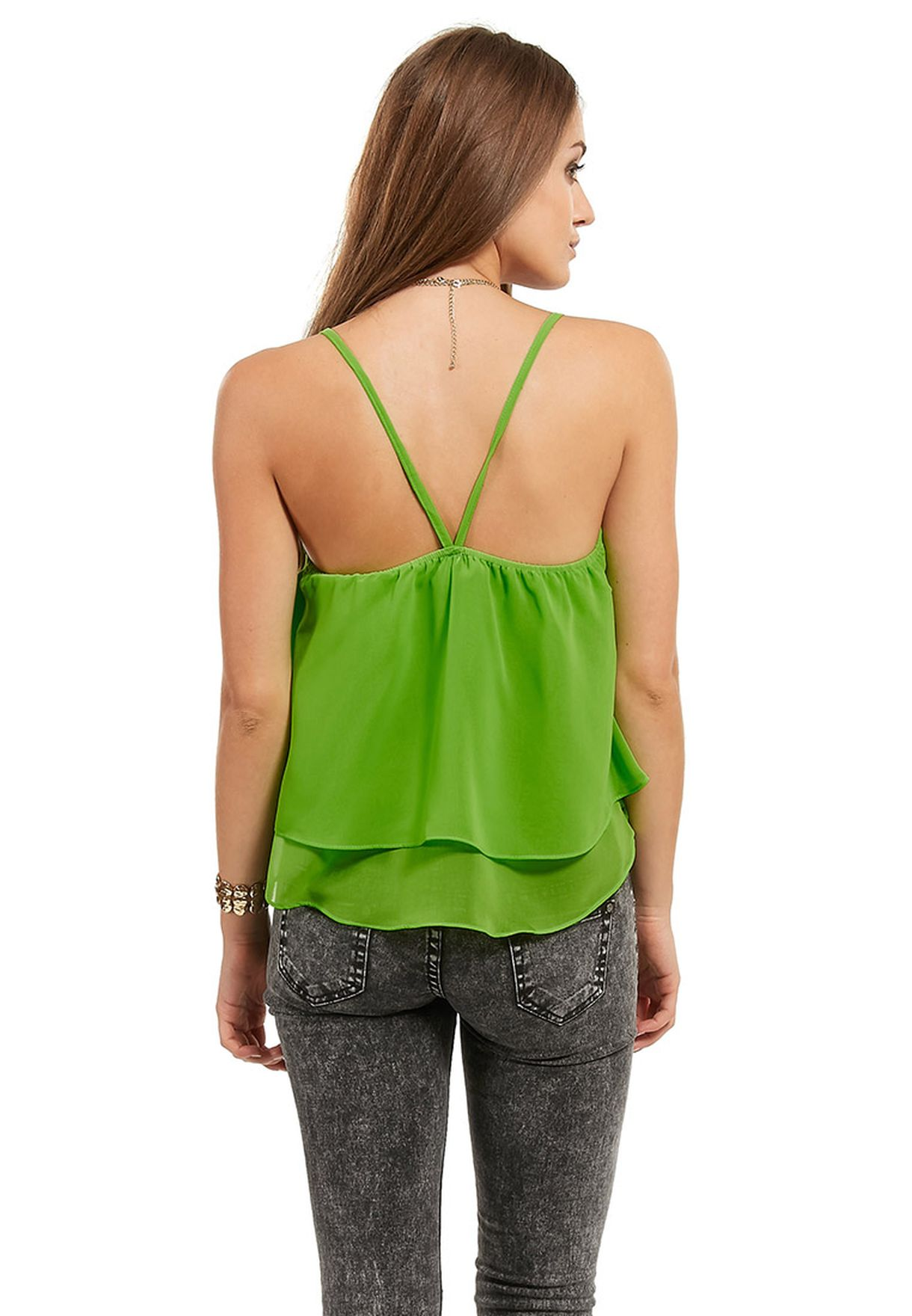 f7bfdc14ecb Shop Ginger neon Double Layer Neon Cami Top for Women in UAE ...