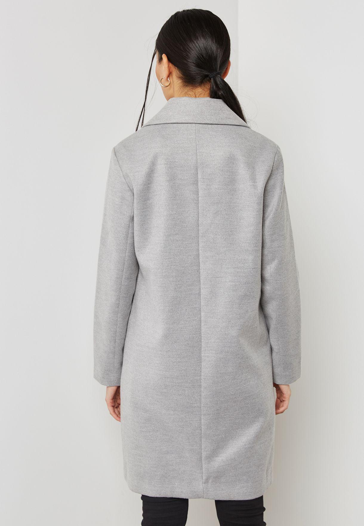 Longline Pocket Detail Coat