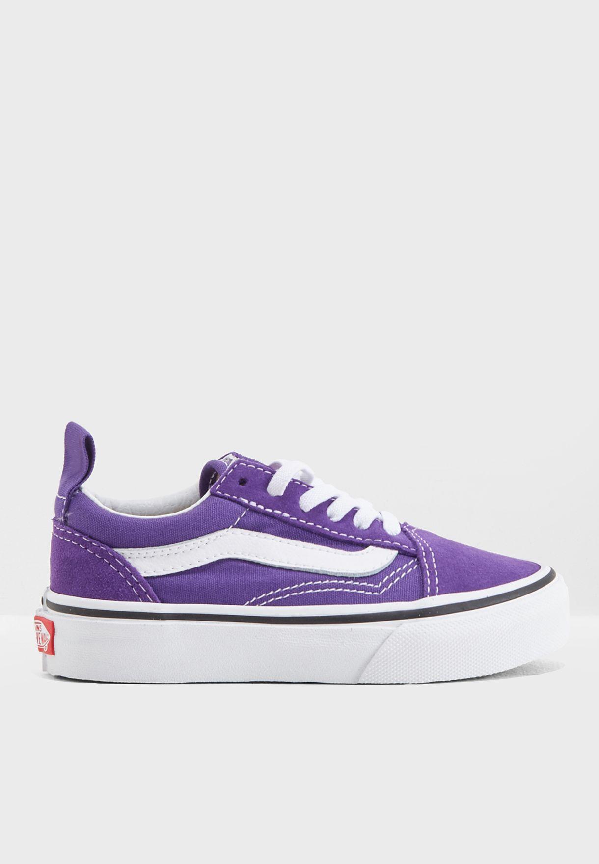 108bd83c3e Shop Vans purple Youth UY Old Skool Elastic Lace QPG4ME for Kids in ...