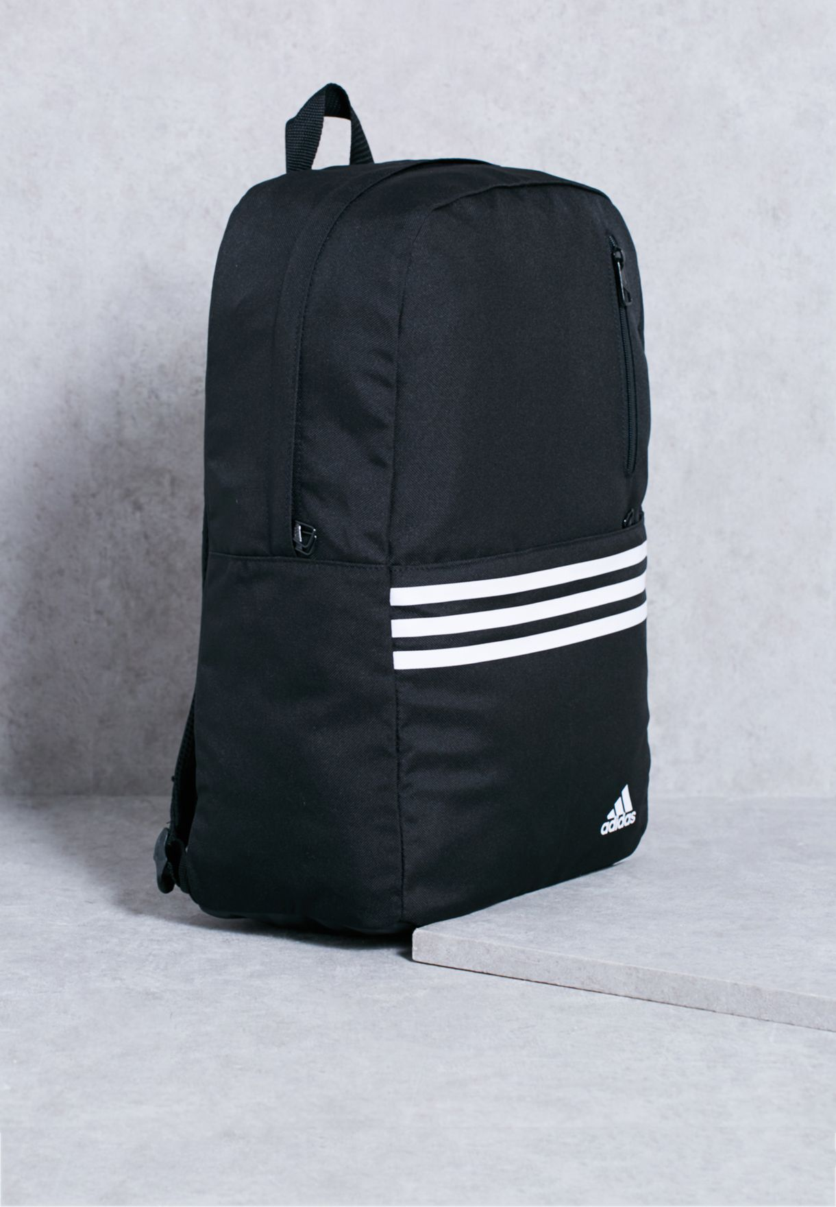 Shop adidas black Versatile 3 Stripe Backpack AB1879 for Men in UAE ... 91f0b183e89d8