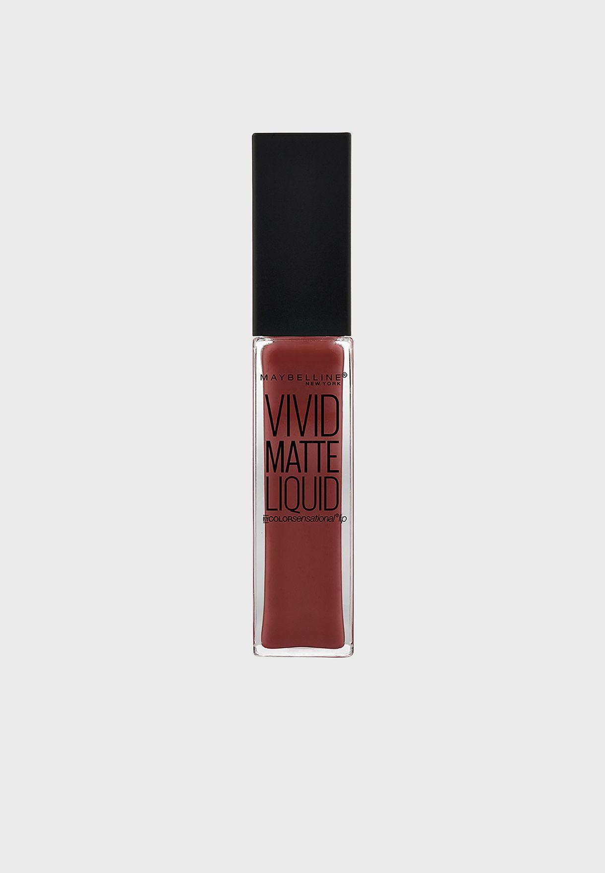 Color Sensational Vivid Matte Lipstick 37 Coffe