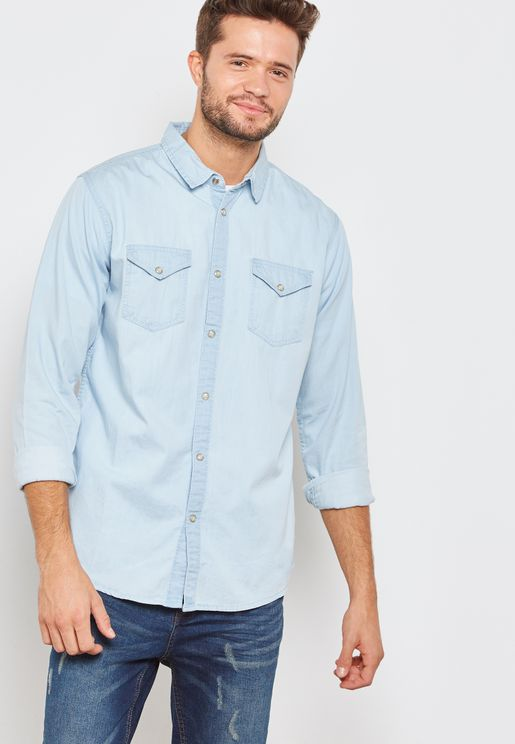 Denim Two Pocket Shirt