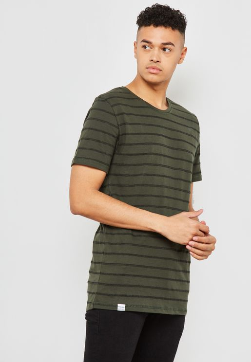 Striped Mingus Crew Neck T-Shirt