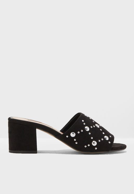Steph Heeled Mule Sandals