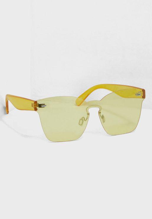 Clear Frameless Sunglasses