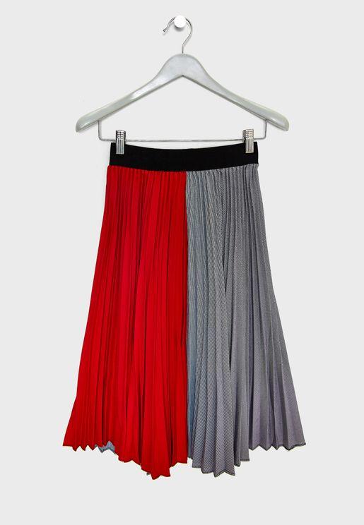 Teen Color Block Skirt
