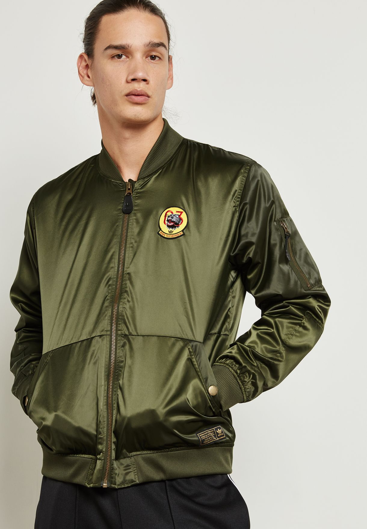 480a4125dba75 Shop adidas Originals green MA1 Bomber Jacket BR4033 for Men in UAE ...