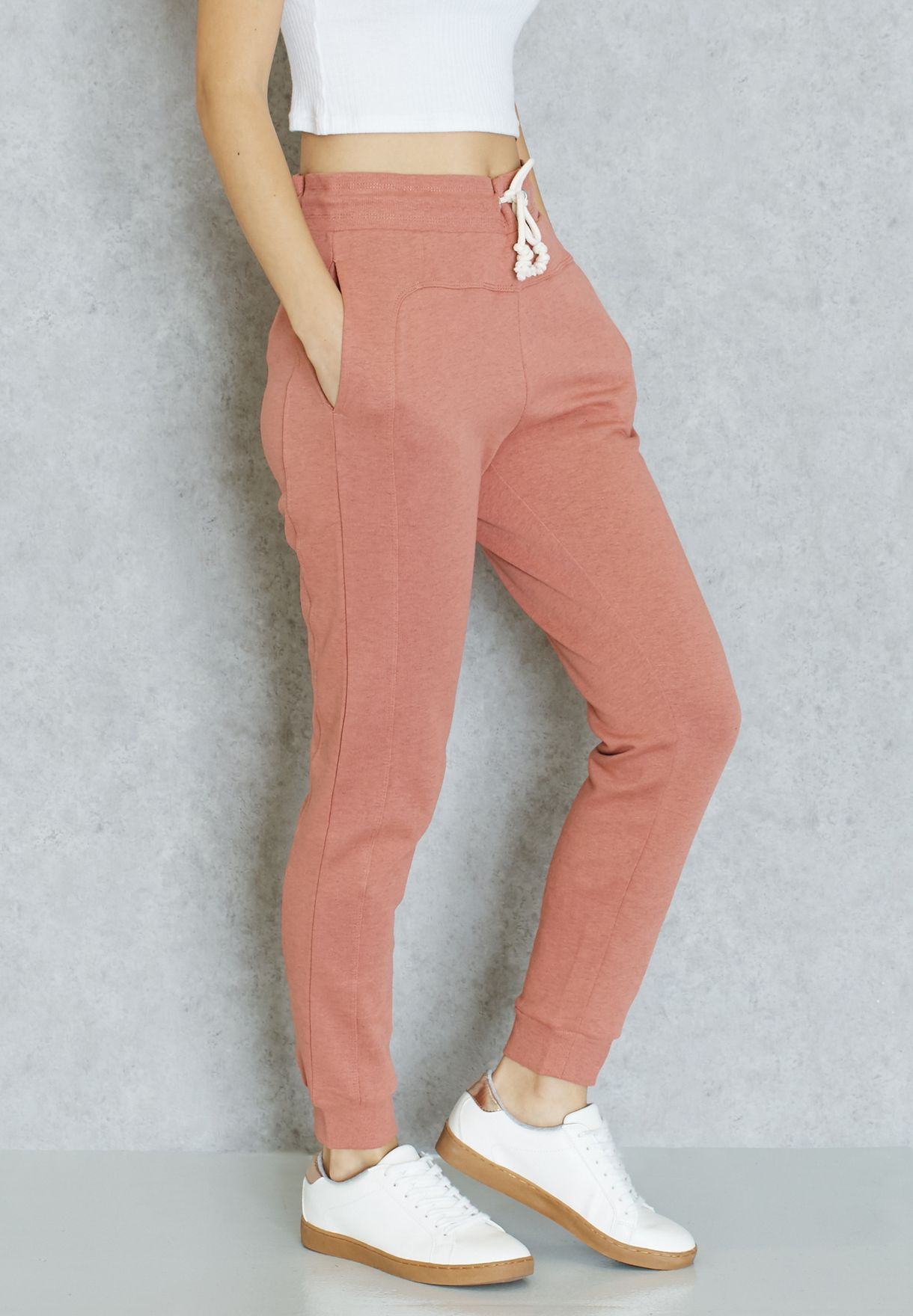 af681425e1 Shop Only pink Tie Waist Sweatpants for Women in Kuwait - ON544AT15FKI