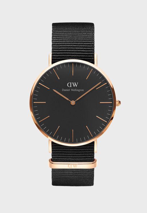 Classic Cornwall RG Black 40mm Watch