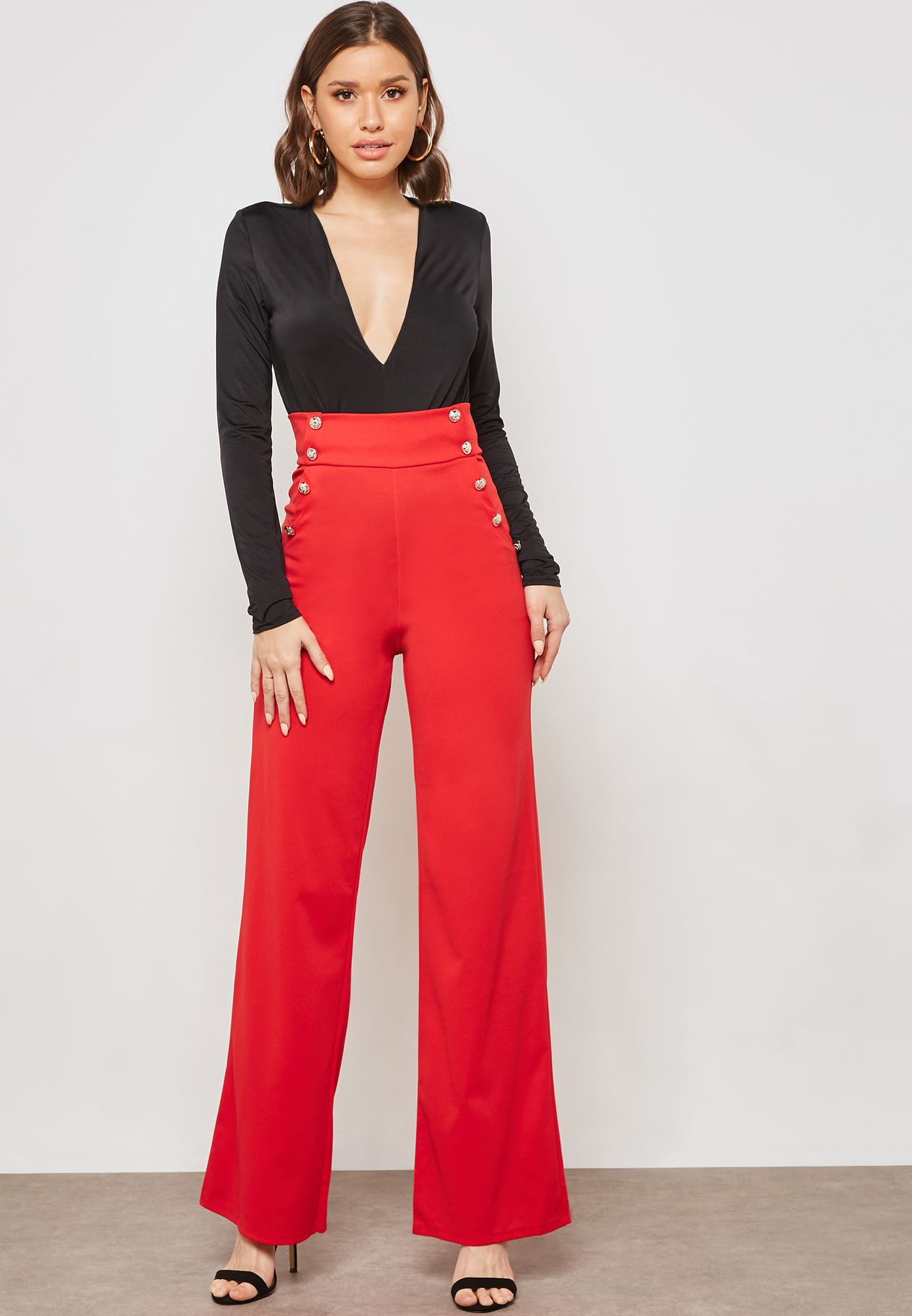 Button Extreme High Waisted Pants