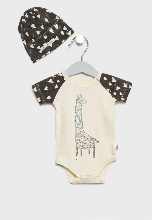 Infant Heart Print Gift Set