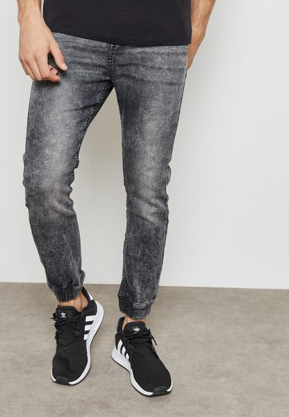 Cuffed Denim jogger