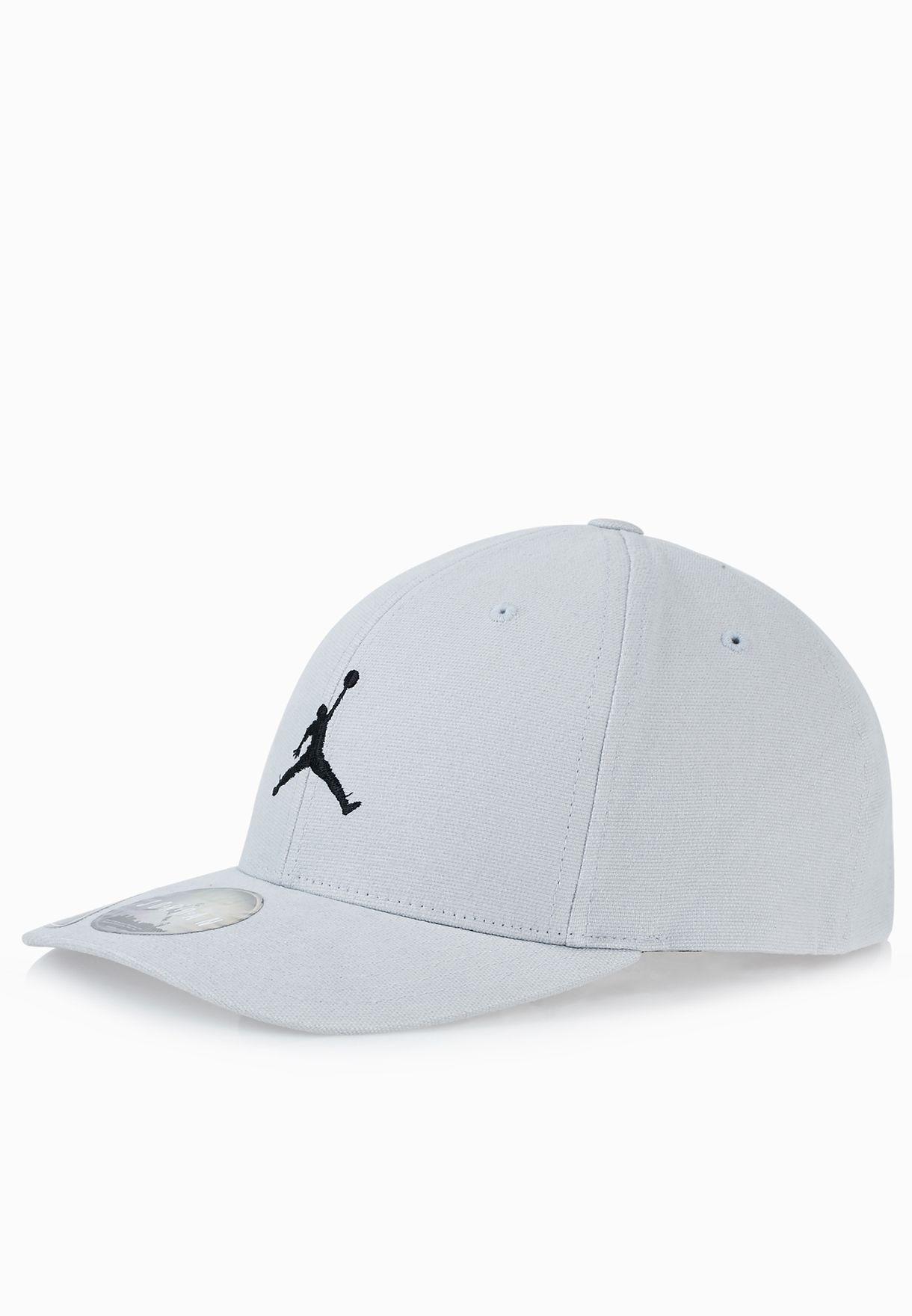 751b7e398ad5 Shop Nike grey Jordan Flex Fit Cap 606365-015 for Men in UAE ...
