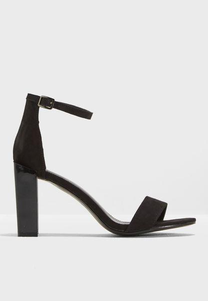 Kitty Patent Block Heel Sandal