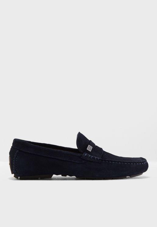 Seasonal Hardware Suede Loafers