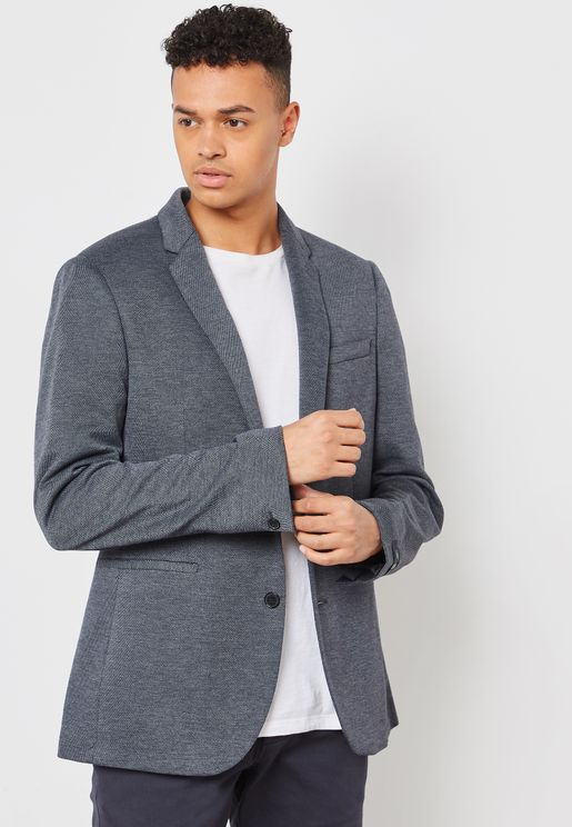 Slim Fit Jersey Stretch Blazer