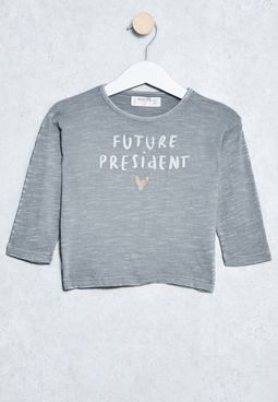 Infant Slogan Print T-Shirt