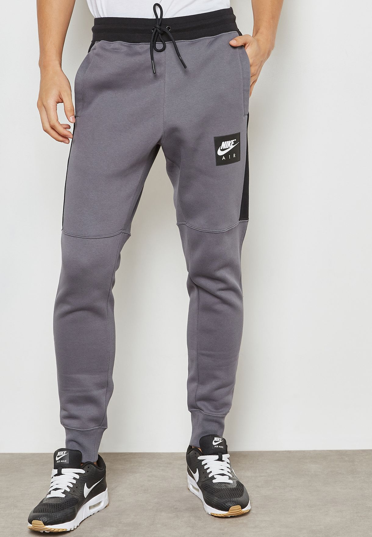 eddebaa45d7f Shop Nike grey Air Fleece Sweatpants 886048-021 for Men in UAE ...