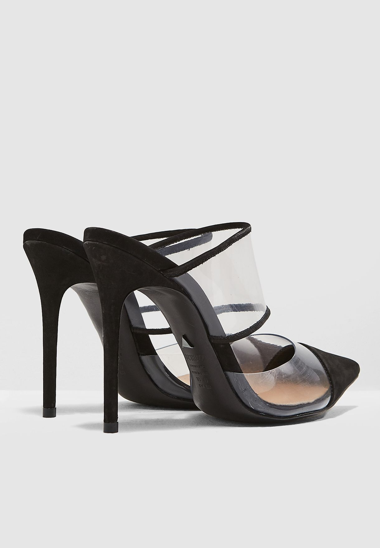 One Strap Perspex Court Shoe
